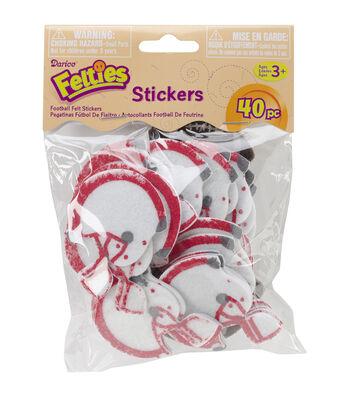 Feltie Stickers 40/Pkg-Football