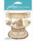 Jolee\u0027s Boutique Dimensional Stickers-Shimmering Wedding Cake