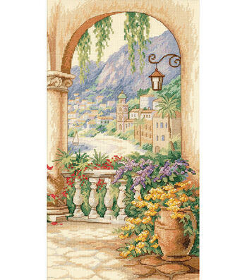 """Dimensions® 9""""x16"""" Counted Cross Stitch-Terrace Arch"""