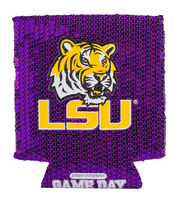 Louisiana State University Tigers Sequin Koozie, , hi-res