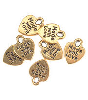 "Darice® ""Made with Love"" Goldtone Charms 50pc, , hi-res"