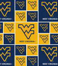 West Virginia University Mountaineers Cotton Fabric 44\u0022-Allover Block