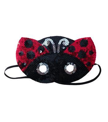 Maker's Halloween Child Sequin Mask-Ladybug