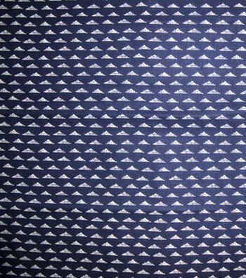 Quilter's Showcase™ Fabric 44''-Triangle Geometric on Navy
