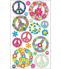 EK Success Sticko Stickers-Floral Peace Signs