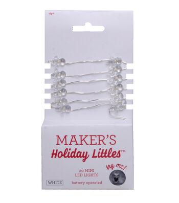 Maker's Holiday Christmas Littles 20 ct Snowman LED Light-White & Silver