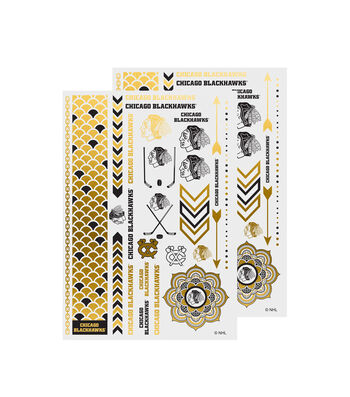 Chicago Blackhawks Metallic Body Jewelry