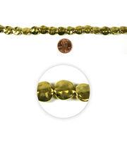 Blue Moon Strung Metal Beads,Flat Round,Gold,Hammered, , hi-res