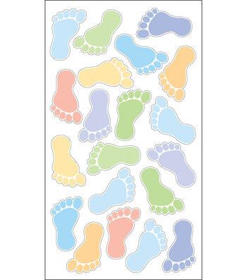 EK Success Sparkler Classic Stickers-Footprints Boys