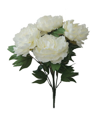 "Bloom Room 19.5"" Peony x10 Bush Beauty-Cream"