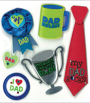 Jolee's Boutique Dimensional Stickers-No 1 Dad, , hi-res