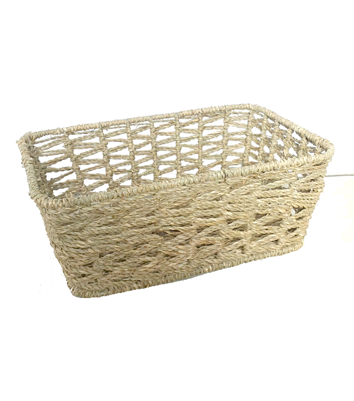 Organizing Essentials™ Rect Seagrass Open Weave Basket