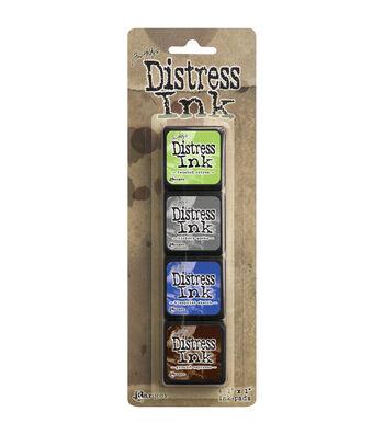 Tim Holtz Distress Mini Ink Pads 4/Pkg-Kit 14