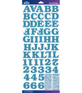 Sticko - Blue Bookman Glitter Alphabet Stickers