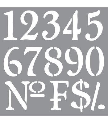 "Americana Decor Stencil 12""X12""-Olde World Numbers"