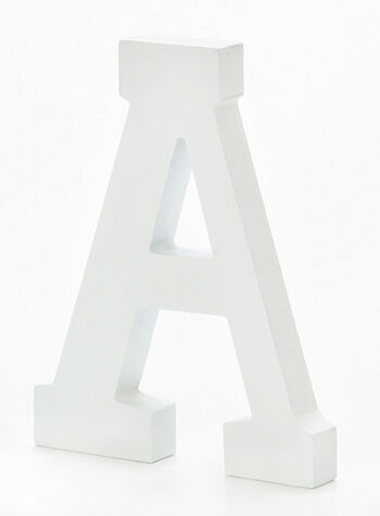 6in White Wood Letter