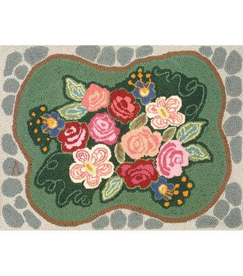 M.C.G. Textiles Heritage Rug Hooking Kit-Cobblestone Rose