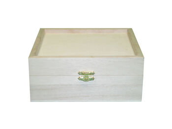 Large Wood Keepsake Box