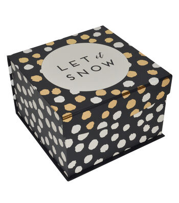 Maker's Holiday Large Mini Fliptop Box-Let It Snow