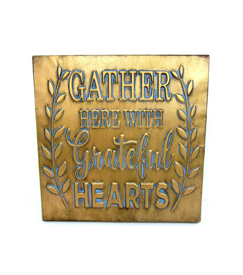 Fall Into Color Metal Gather Here Wall Decor