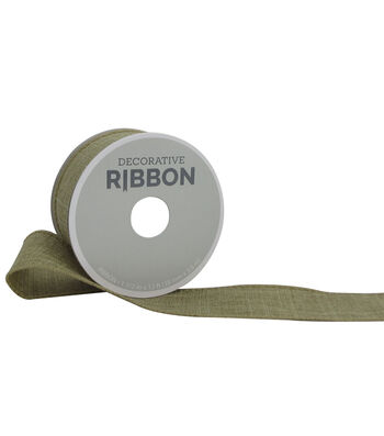 "Decorative Ribbon 1.5"" Solid Linen Ribbon-Natural"