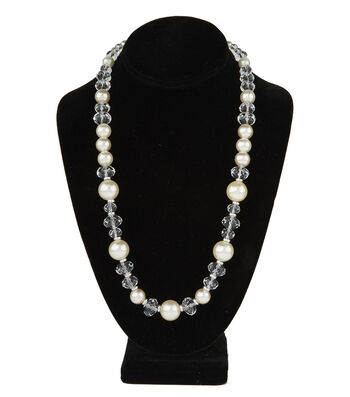 Short Mullti Necklace Pearl Crystal