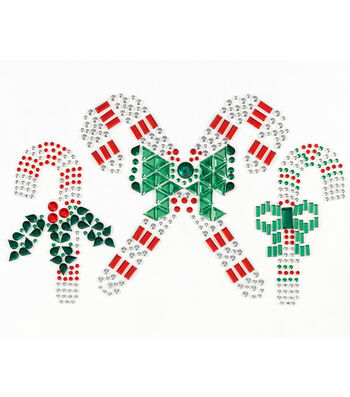 Jolee's Boutique® Holiday Bling Stickers 3pk-Candy Canes