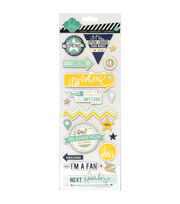 "Heidi Swapp Mixed Media Chipboard Stickers 4.5""X12"" Sheet-Awesome, , hi-res"