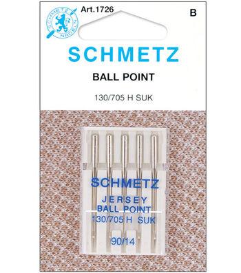 Schmetz Ball Point Machine Needles 5/Pk-Size 14/90