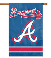 Atlanta Braves Applique Banner Flag, , hi-res