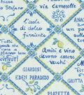 Home Decor 8\u0022x8\u0022 Fabric Swatch-Waverly Piastrelle/Azure