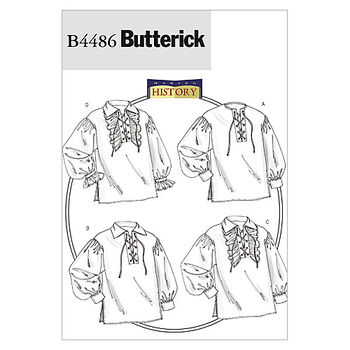 Butterick Pattern B4486 Adult Historical Costumes-Size S-M-L