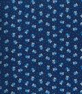 Keepsake Calico Cotton Fabric 43\u0022-Twilight Blue Ditsy Floral
