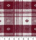 Plaiditudes Brushed Cotton Fabric 44\u0022-Southwest Red White