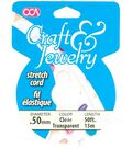 Cousin Craft & Jewelry .50mm Stretch Cord-50ft/Clear