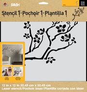 FolkArt® Stencil1™ Laser Stencils - Cherry Branch, , hi-res