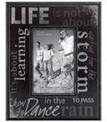 Life Sentiment Wall Frame 4X6-Distressed Black