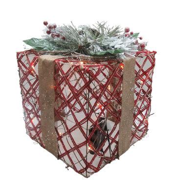 Maker's Holiday Christmas Large LED Gift Box