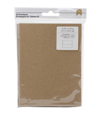 American Crafts A2 Envelopes 4.378''x5.75'' 25 pcs