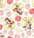 Disney Beauty & The Beast Cotton Fabric 43\u0022-Belle Framed