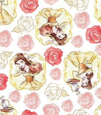 "Disney® Beauty & The Beast Cotton Fabric 43""-Belle Framed"