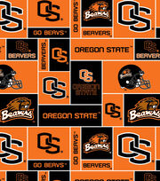 "Oregon State University Beavers Fleece Fabric 58""-Logo Block, , hi-res"