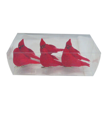 Blooming Holiday Christmas 6 pk Birds-Red