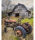 Novelty Cotton Fabric Panel 44\u0022-Barn & The Tractor