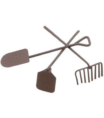 Timeless Miniatures-Painted Metal Garden Tools 3/Pkg