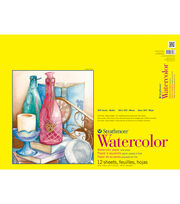 "Strathmore Watercolor Paper Pad 18""X24""-140lb Cold Press 12 Sheets, , hi-res"