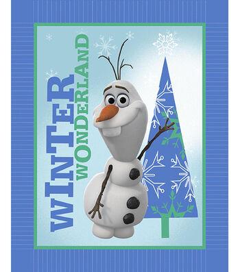 "No Sew Fleece Throw 48""-Frozen Olaf Winter Wonderland"