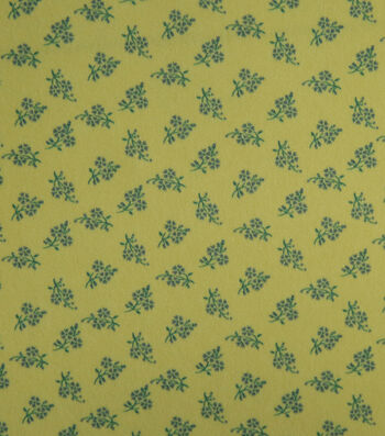 "Silky Stretch Crepe Fabric 57""-Yellow Ditsy Floral"