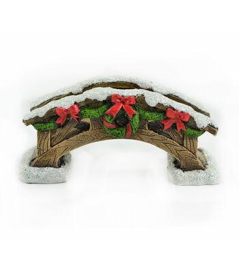 Maker's Holiday Christmas Littles 6'' Snow Covered Bridge