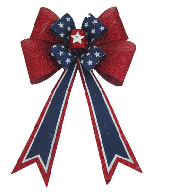 Americana Patriotic Bow with LED